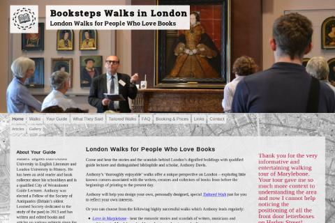 Screenshot of Booksteps London website